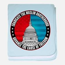Eradicate The Muslim Brotherhood baby blanket