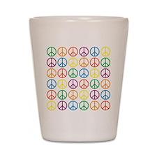 Peace Symbols Shot Glass