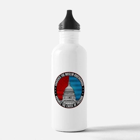 Eradicate The Muslim Brotherhood Water Bottle