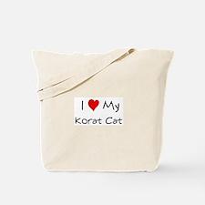 Love My Korat Cat Tote Bag