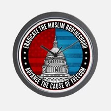 Eradicate The Muslim Brotherhood Wall Clock