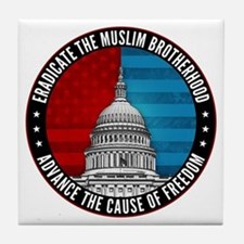 Eradicate The Muslim Brotherhood Tile Coaster