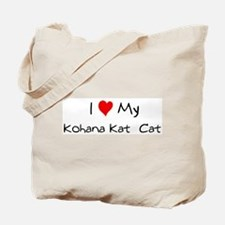 Love My Kohana Kat  Cat Tote Bag