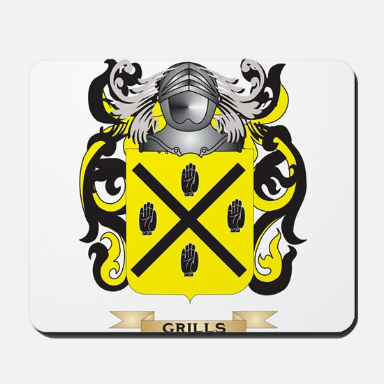 Grills Coat of Arms (Family Crest) Mousepad