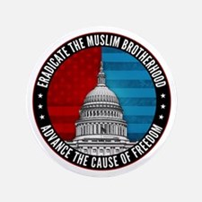 "Eradicate The Muslim Brotherhood 3.5"" Button"