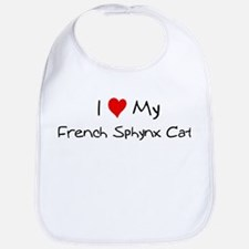 Love My French Sphynx Cat Bib