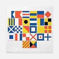 Nautical Flags Queen Duvet