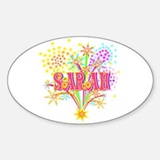 Sparkle Celebration Sarah Oval Decal