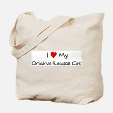 I Love Original Ragdoll Cat Tote Bag