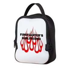 Firefighters Girlfriend Flames Neoprene Lunch Bag