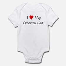 I Love Oriental Cat Infant Bodysuit