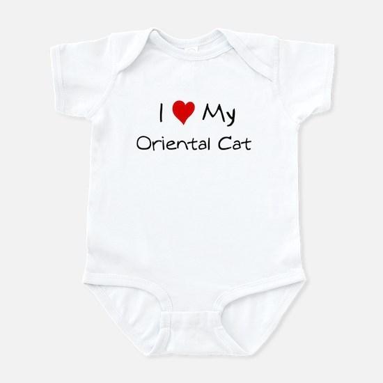 I Love Oriental Cat Infant Bodysuit