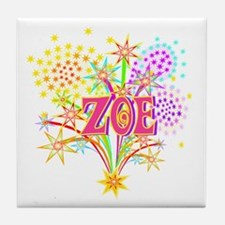 Sparkle Celebration Zoe Tile Coaster