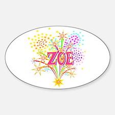 Sparkle Celebration Zoe Oval Decal