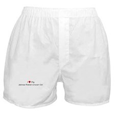 Love My Japanese Bobtail Long Boxer Shorts