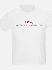 Love My Japanese Bobtail Long Kids T-Shirt