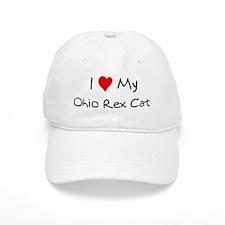 I Love Ohio Rex Cat Baseball Cap