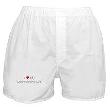 I Love Ocicat Variants Cat Boxer Shorts