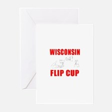 Wisconsin Beer Pong Greeting Cards (Pk of 10)