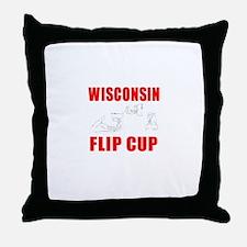 Wisconsin Beer Pong Throw Pillow