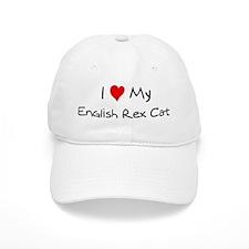 Love My English Rex Cat Baseball Cap