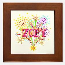 Sparkle Celebration Zoey Framed Tile
