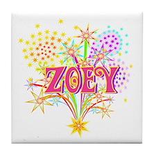 Sparkle Celebration Zoey Tile Coaster