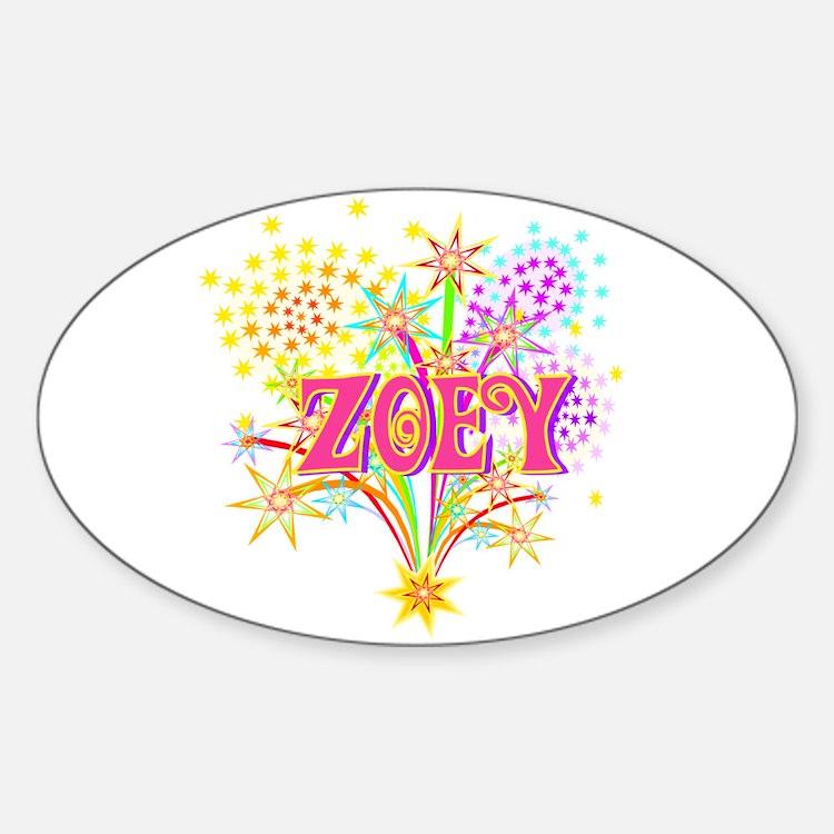 Sparkle Celebration Zoey Oval Decal