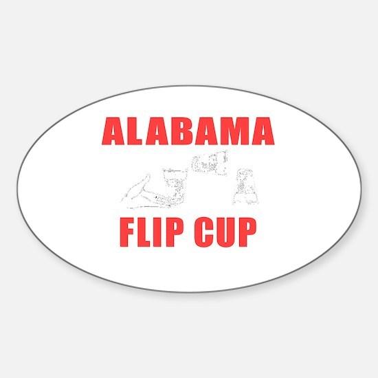 Alabama Flip Cup Oval Decal
