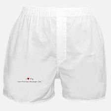 I Love Non-Pointed Himalayan  Boxer Shorts