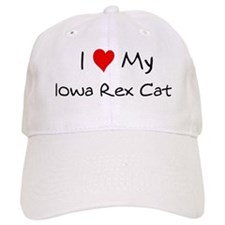 Love My Iowa Rex Cat Baseball Cap