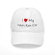 Love My Indian Rex Cat Baseball Cap