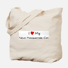 I Love Neva Masquerade Cat Tote Bag