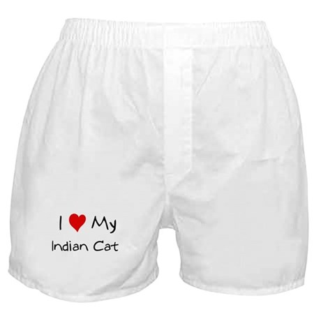 Love My Indian Cat Boxer Shorts