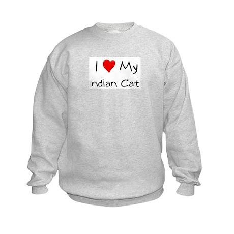 Love My Indian Cat Kids Sweatshirt