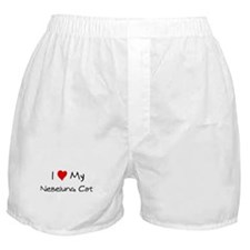 I Love Nebelung Cat Boxer Shorts