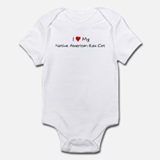 I Love Native American Rex Ca Infant Bodysuit