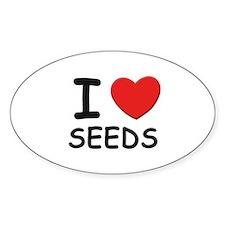 I love seeds Oval Decal
