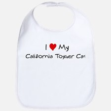 Love My California Toyger Cat Bib