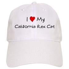 Love My California Rex Cat Baseball Cap