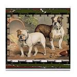 Bulldog Dogs Tile Coaster