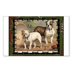 Bulldogs Dog Rectangle Sticker