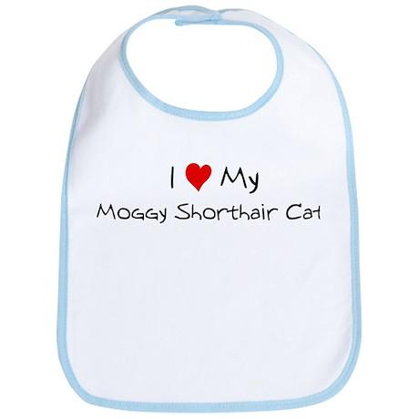 I Love Moggy Shorthair Cat Bib