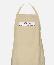 I Love Moggy Shorthair Cat BBQ Apron