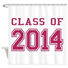 Class of 2014 (Pink) Shower Curtain