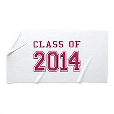 Class of 2014 (Pink) Beach Towel