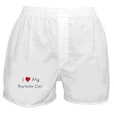 Love My Burmilla Cat Boxer Shorts