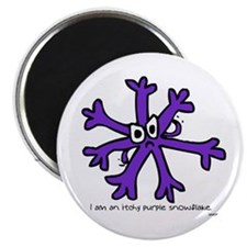 Itchy Purple Snowflake Magnet