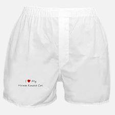 I Love Miracle Ragdoll Cat Boxer Shorts