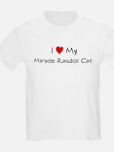 I Love Miracle Ragdoll Cat Kids T-Shirt